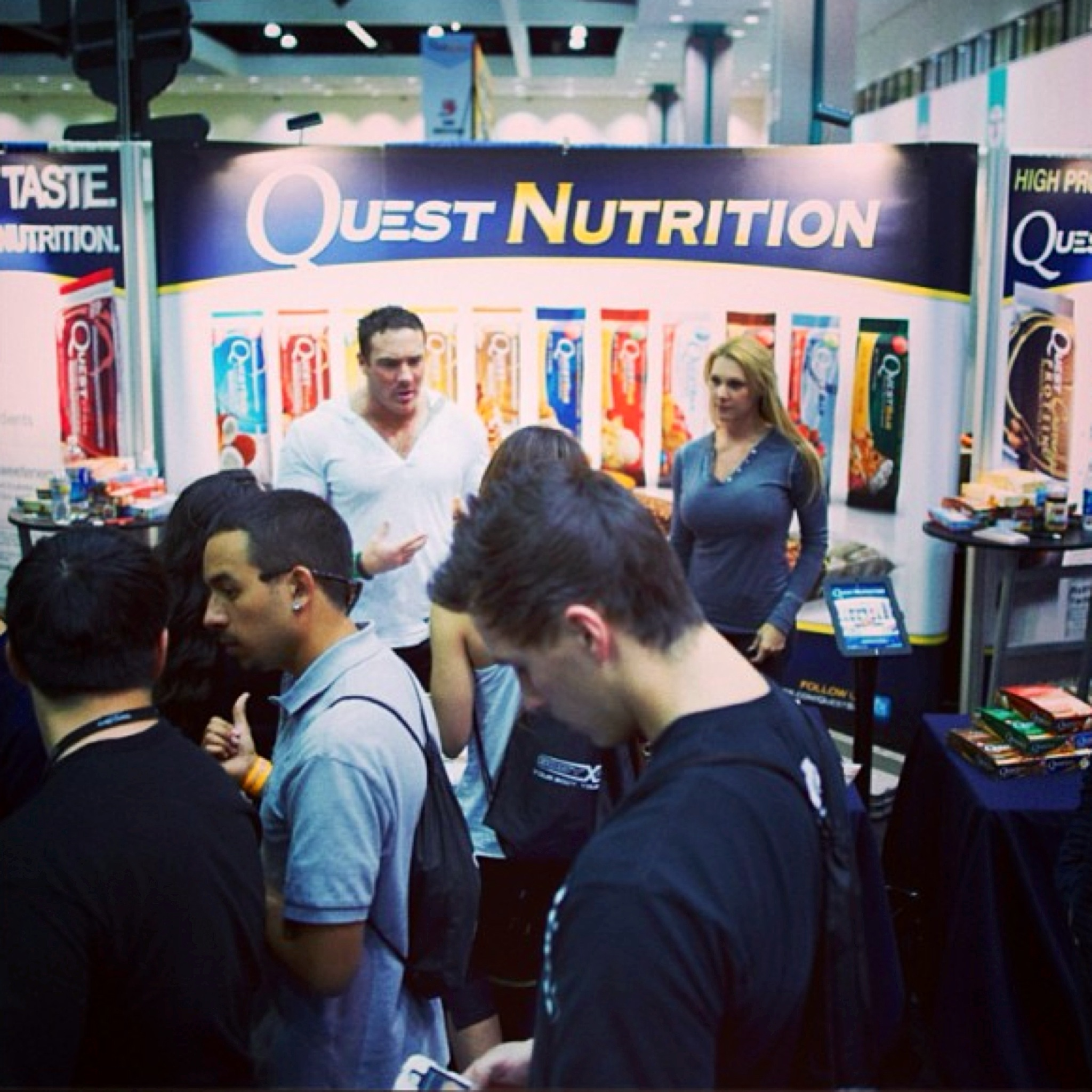 The Quest Nutrition booth at TheFitExpo in Los Angeles in January 2013.