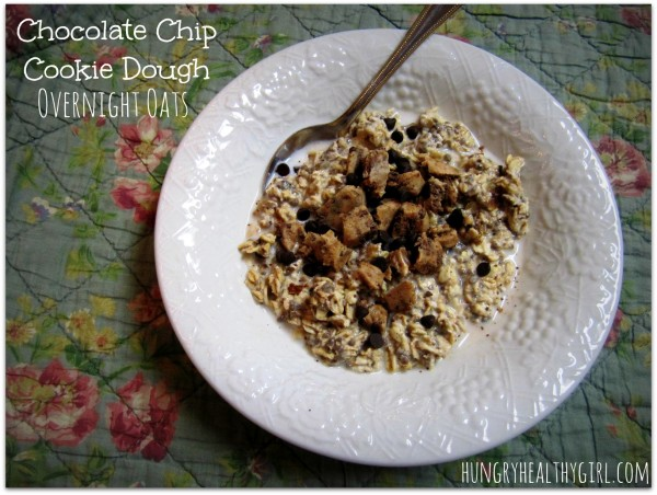 Chocolate Chip Cookie Dough Overnight Oats | The Bloq