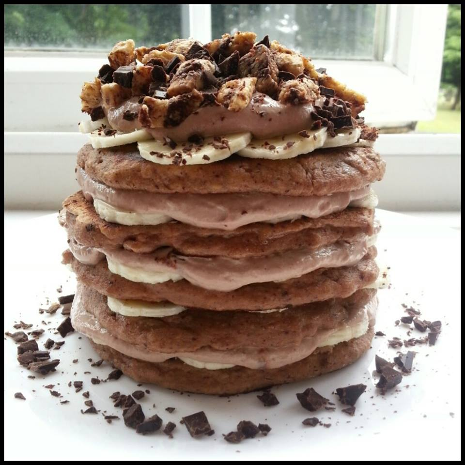 Quest Chocolate Chip Cookie Dough Protein Pancakes with Chocolate ...