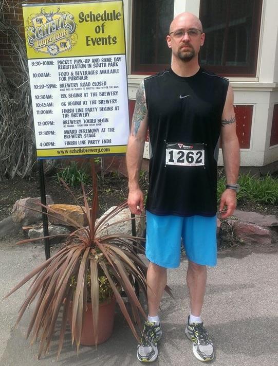 Erik Jensen lost 55 lbs and loves running.