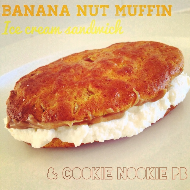 Banana Nut Muffin Ice Cream Sandwich