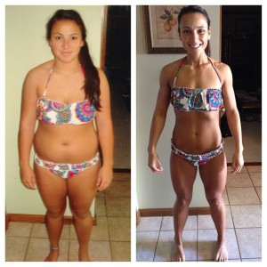 Allison lost 52 lbs. in eight months.