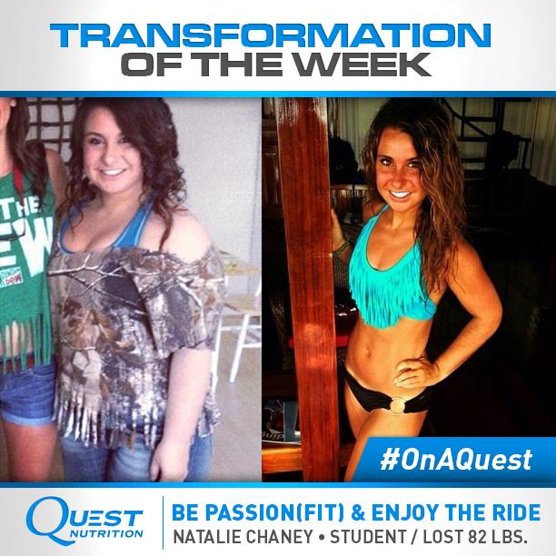 Natalie Chaney 82 lb. transformation.