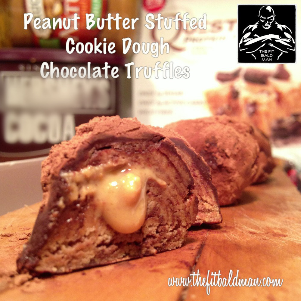 Peanut Butter Stuffed Cookie Dough Chocolate Truffles