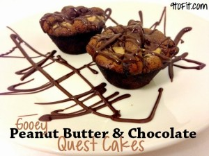 Peanut Butter and Chocolate Quest Cakes