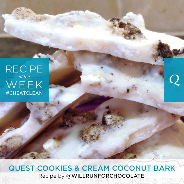 Quest Cookies And Cream Coconut Bark