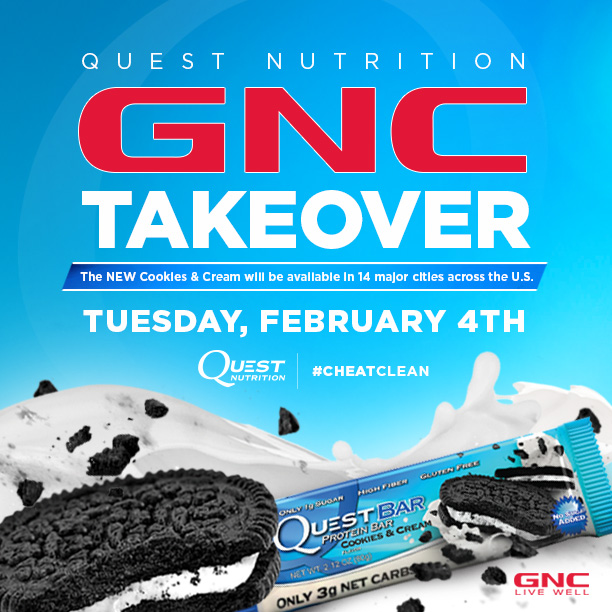Cookies & Cream GNC Store Takeover