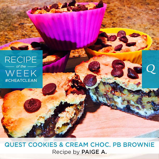 Quest Cookies and Cream Chocolate Peanut Butter Brownie | The Bloq