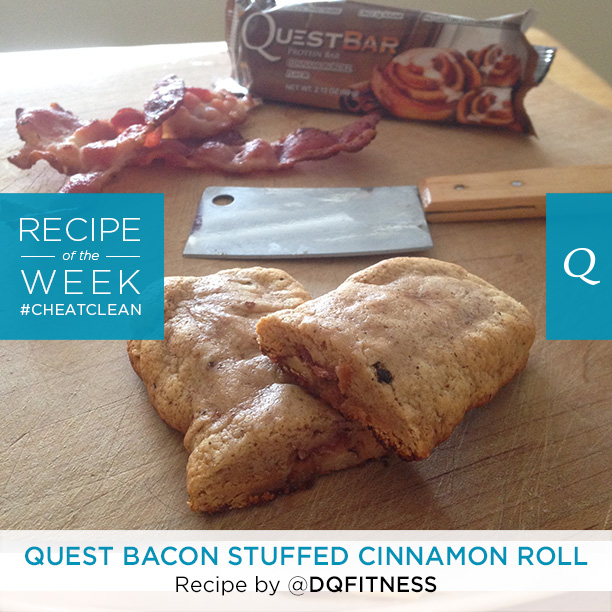 Quest Bacon Stuffed Cinnamon Roll