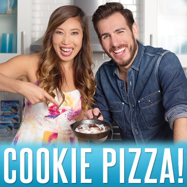 Cooking Clean With Quest: Cookies And Cream Pizookie with Blogilates and Kenny Florian