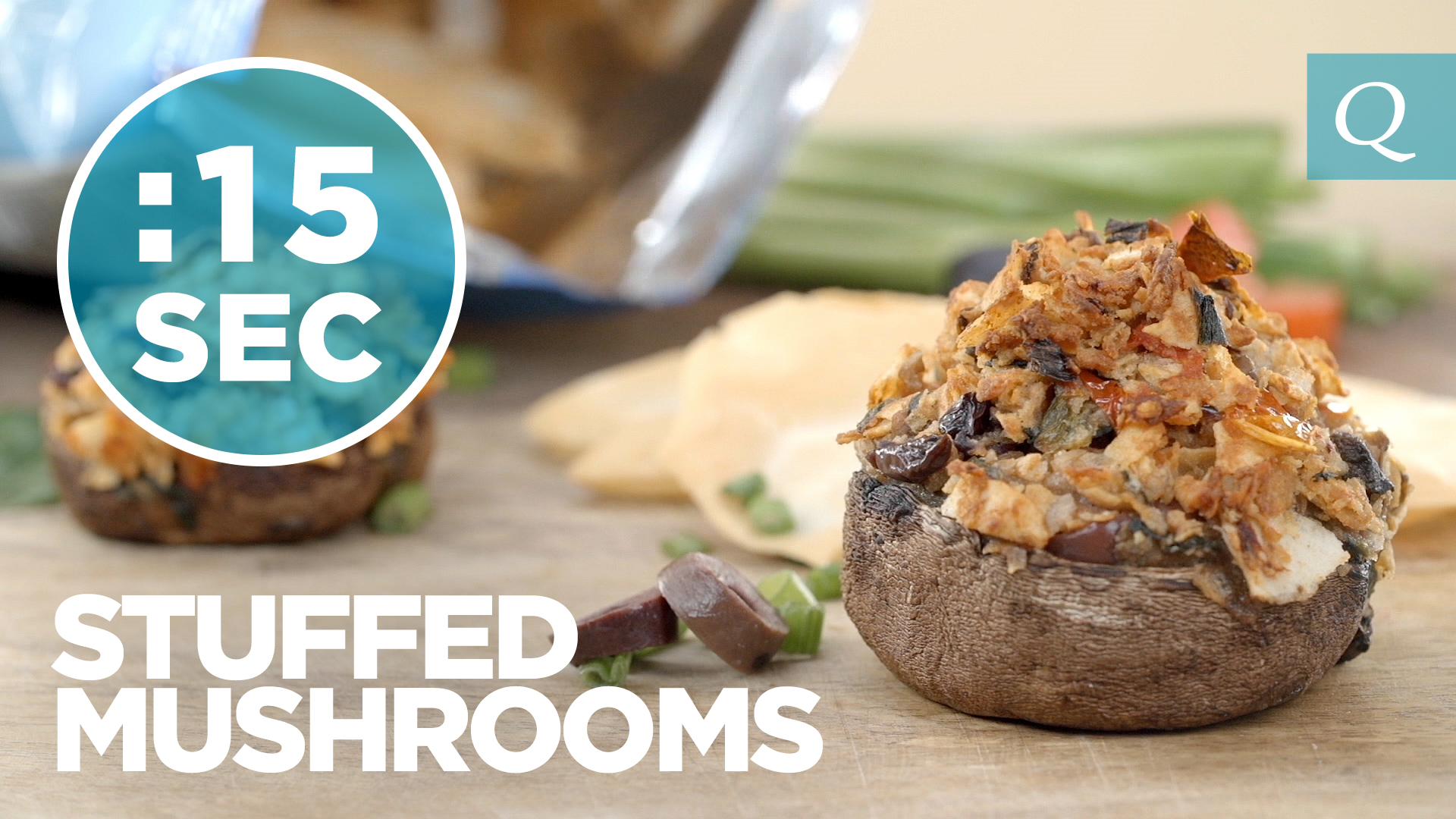 Quest Nutrition Stuffed Mushrooms #15SecondRecipe