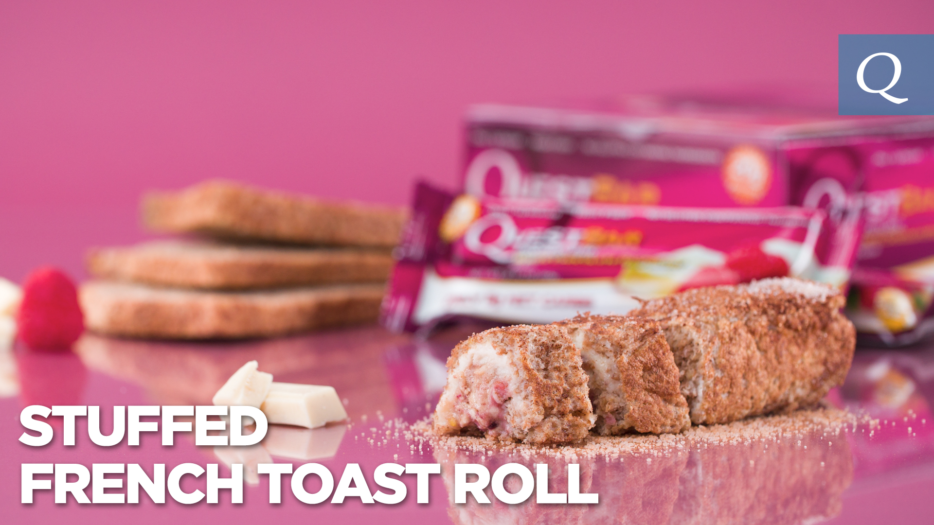 Quest Nutrition Stuffed French Toast Roll #15SecondRecipe
