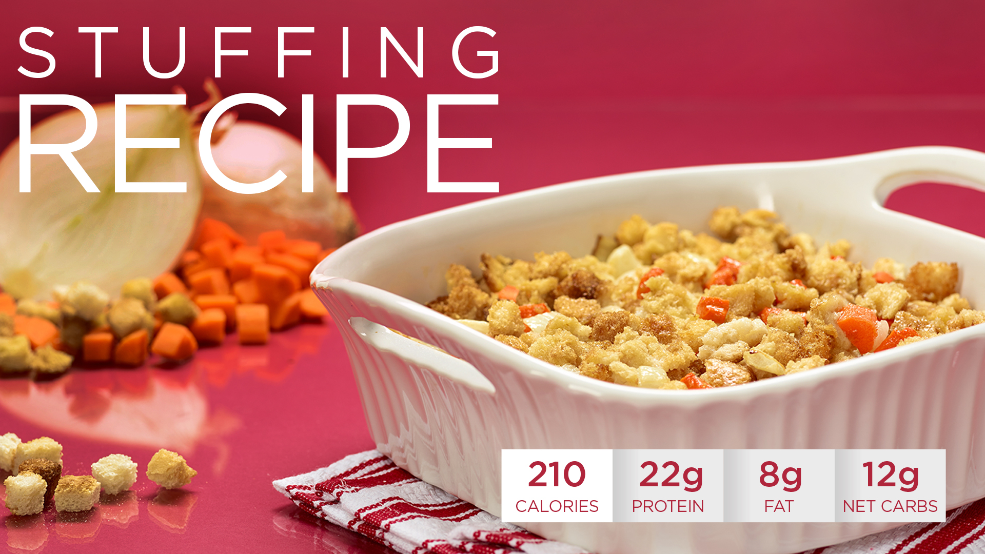 Healthy Holidays Recipe: Quest Nutrition Stuffing