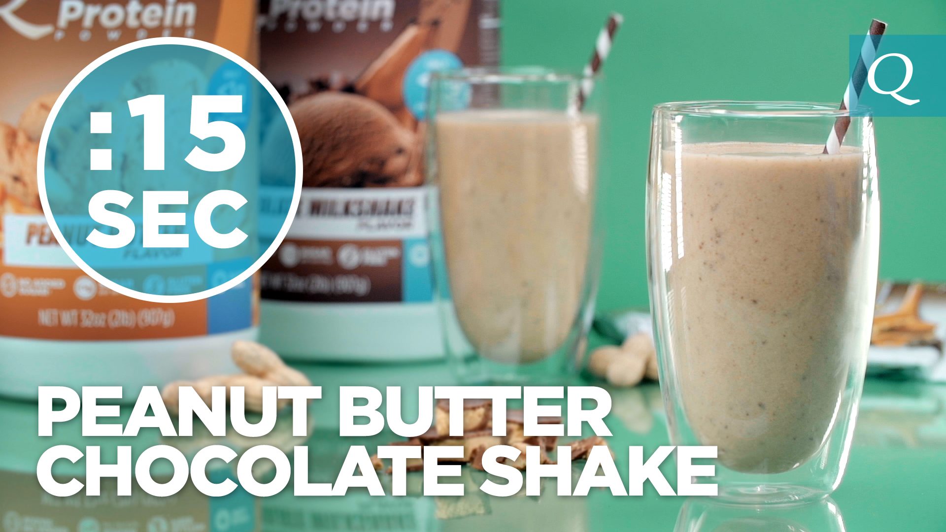 Quest Nutrition Chocolate Peanut Butter Protein Shake #15SecondRecipe