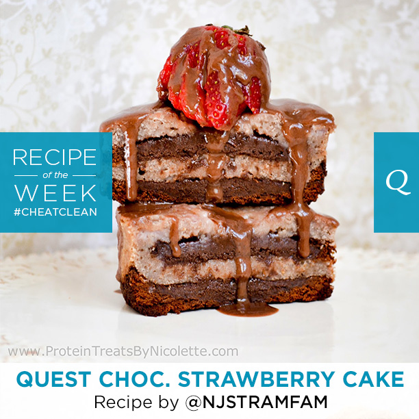 Chocolate Strawberry Quest Nutrition Cake