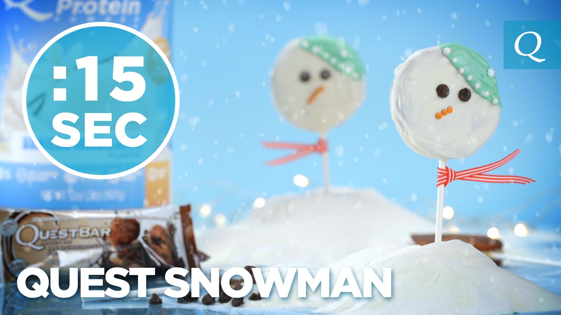 Quest Nutrition Snowman Cookies #15SecondRecipe