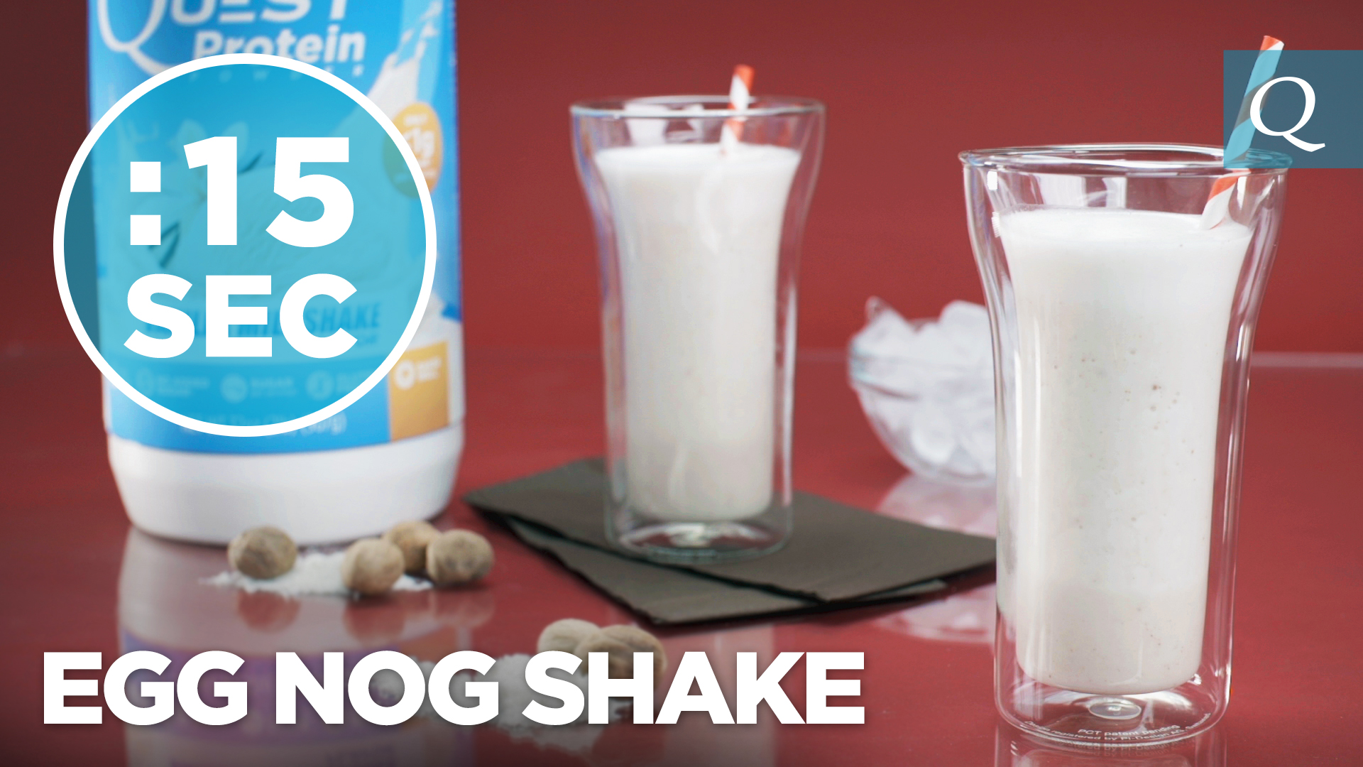 Quest Nutrition Eggnog Shake #15SecondRecipe