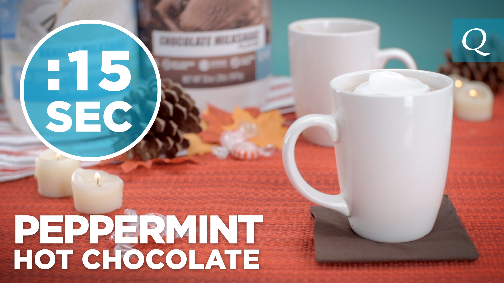 Quest Nutrition Peppermint Hot Cocoa with Vanilla Whipped Cream #15SecondRecipe