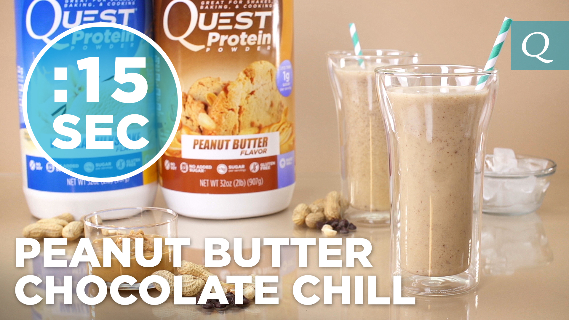 Quest Nutrition Peanut Butter Chocolate Chill #15SecondRecipe