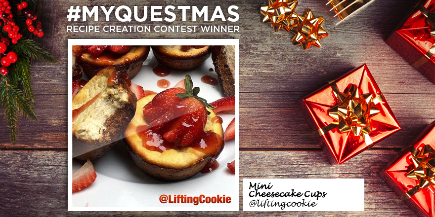 #MyQuestmas Recipe Contest Winner #4 – Quest Nutrition Mini Cheesecake Cups