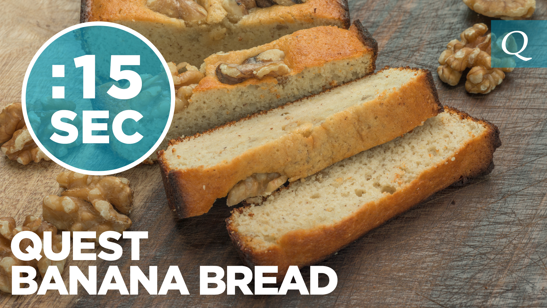 Quest Nutrition Banana Bread #15SecondRecipe