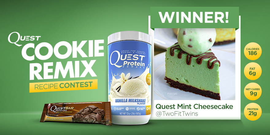 Quest Nutrition Cookie Remix Contest Winner 2 – Quest Mint Cheesecake