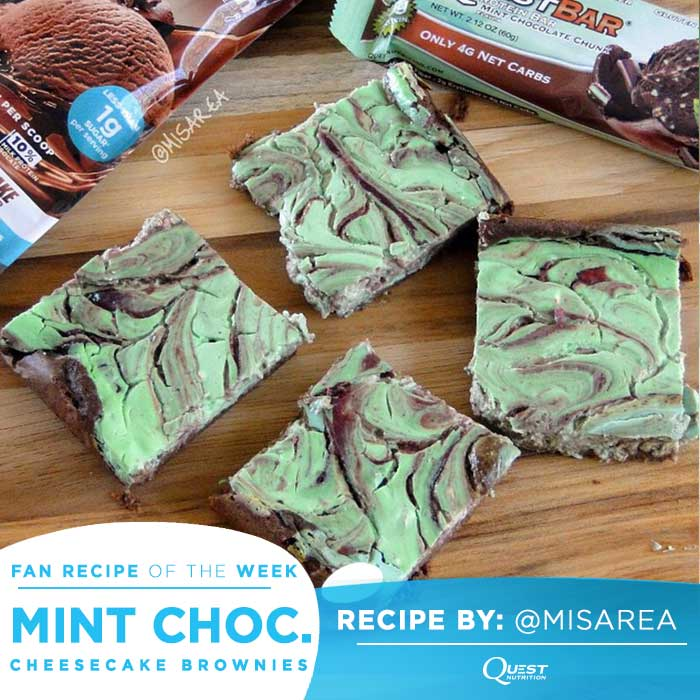 Quest Nutrition Mint Chocolate Chunk Cheesecake Brownies