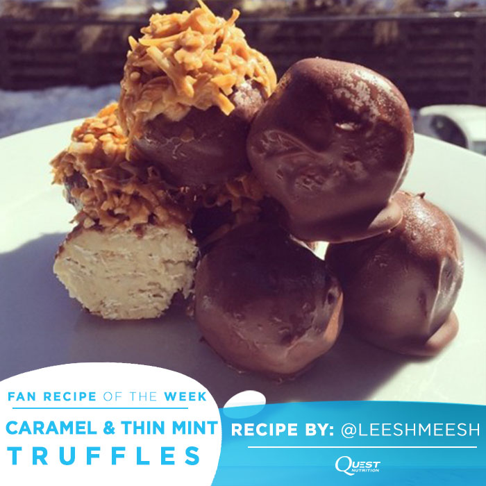 Quest Nutrition Caramel and Thin Mint Protein Truffles