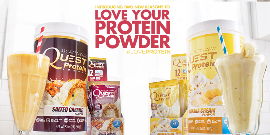 Quest Nutrition Salted Caramel And Banana Cream Protein Powder