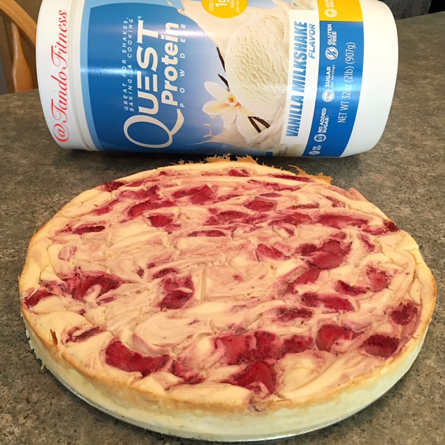 Quest Nutrition Strawberry Swirl Protein Cheesecake