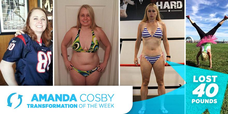 Weight Loss Transformation: Amanda Cosby