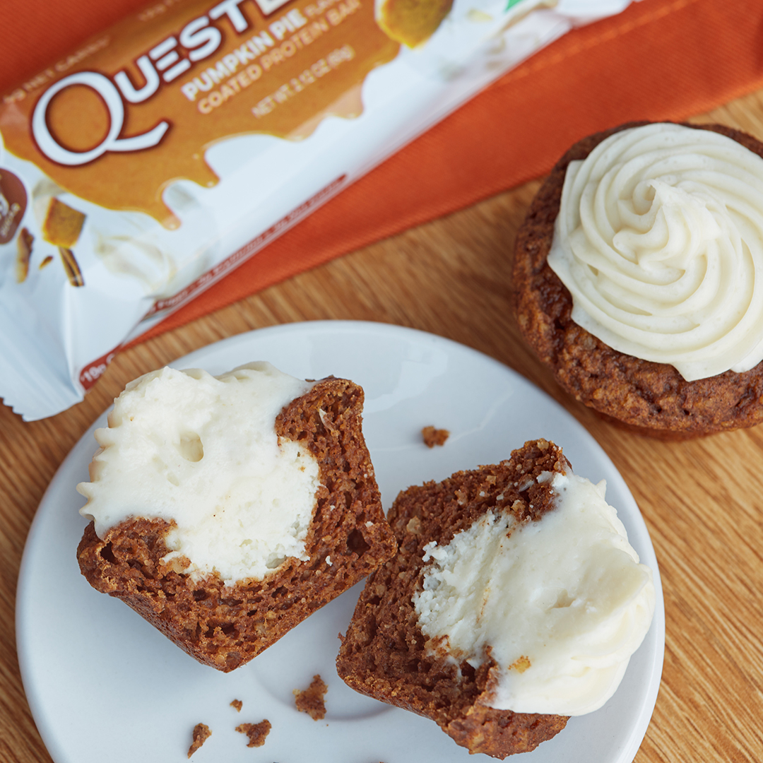 Quest Nutrition Mini Pumpkin Cream Cheese Muffins