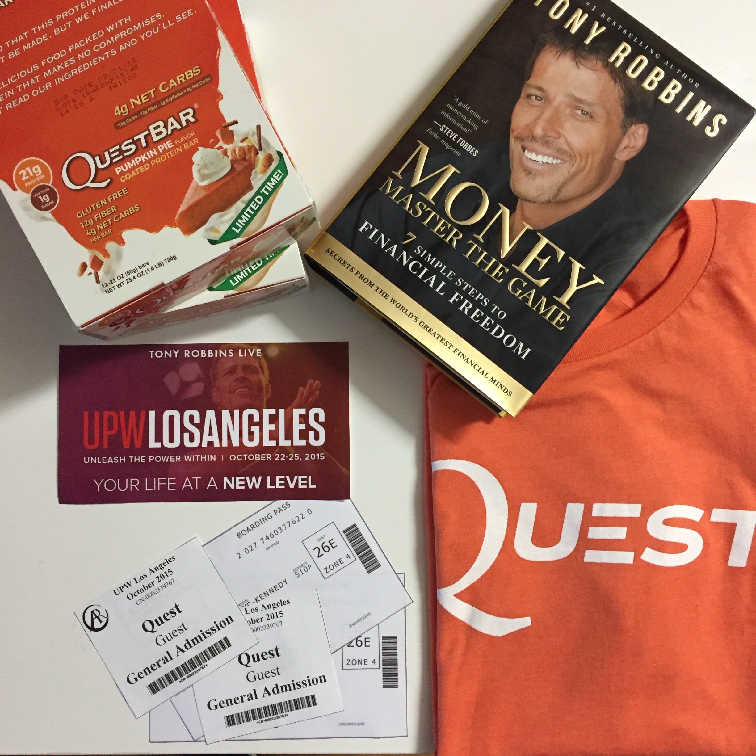 """Quest X Tony Robbins Unleash the Power Within Giveaway"" Sweepstakes Official Rules"