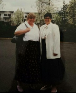 Maureen on left, before her transformation.