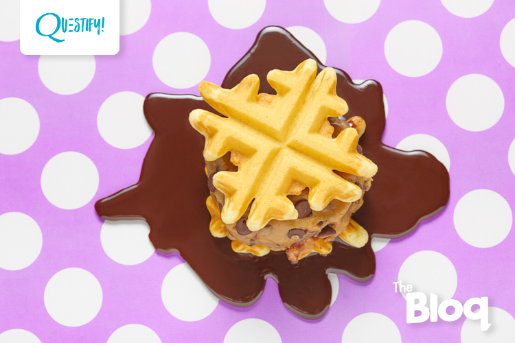Somebody Save These Cookie Dough Waffle Sandwiches!