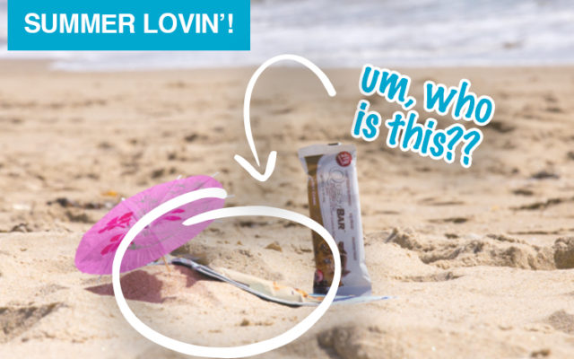 Who is This Mystery Babe on the Beach with Chocolate Chip Cookie Dough?!