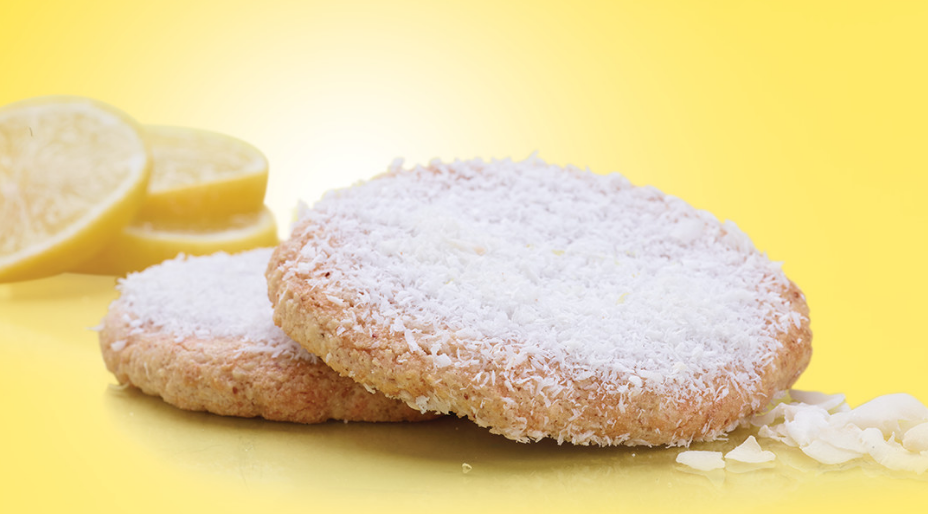 lemon coconut shortbread cookie