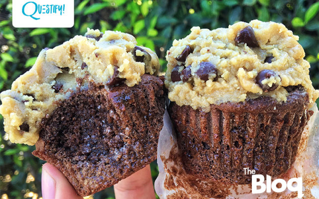 Go On, Just Try and Resist This Protein Cupcake Topped with Cookie Dough Instead of Frosting