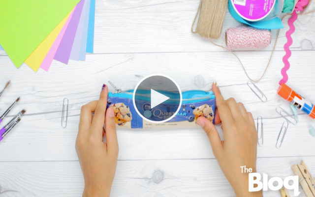 Transform Your Empty Quest Bar Wrappers into This Handy Pencil Case!