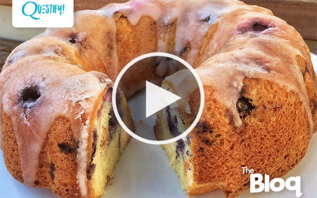 Impress Your Friends and Family with This Insanely Fluffy Lemon Blueberry Protein Bundt Cake