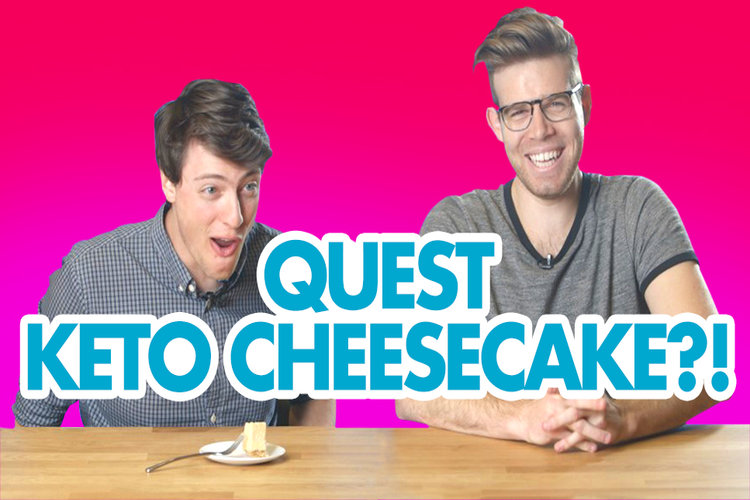 Quest Employees Try Keto Pumpkin Cheesecake For the First Time!