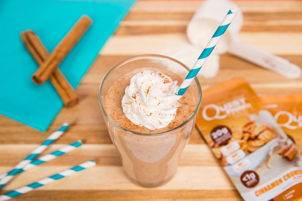 Quest Horchata Shake using Cinnamon Crunch Protein Powder