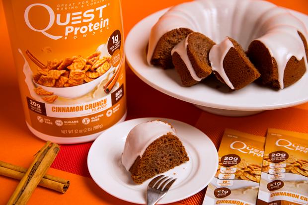 Recipe: Quest Cinnamon Crunch Bundt Cake