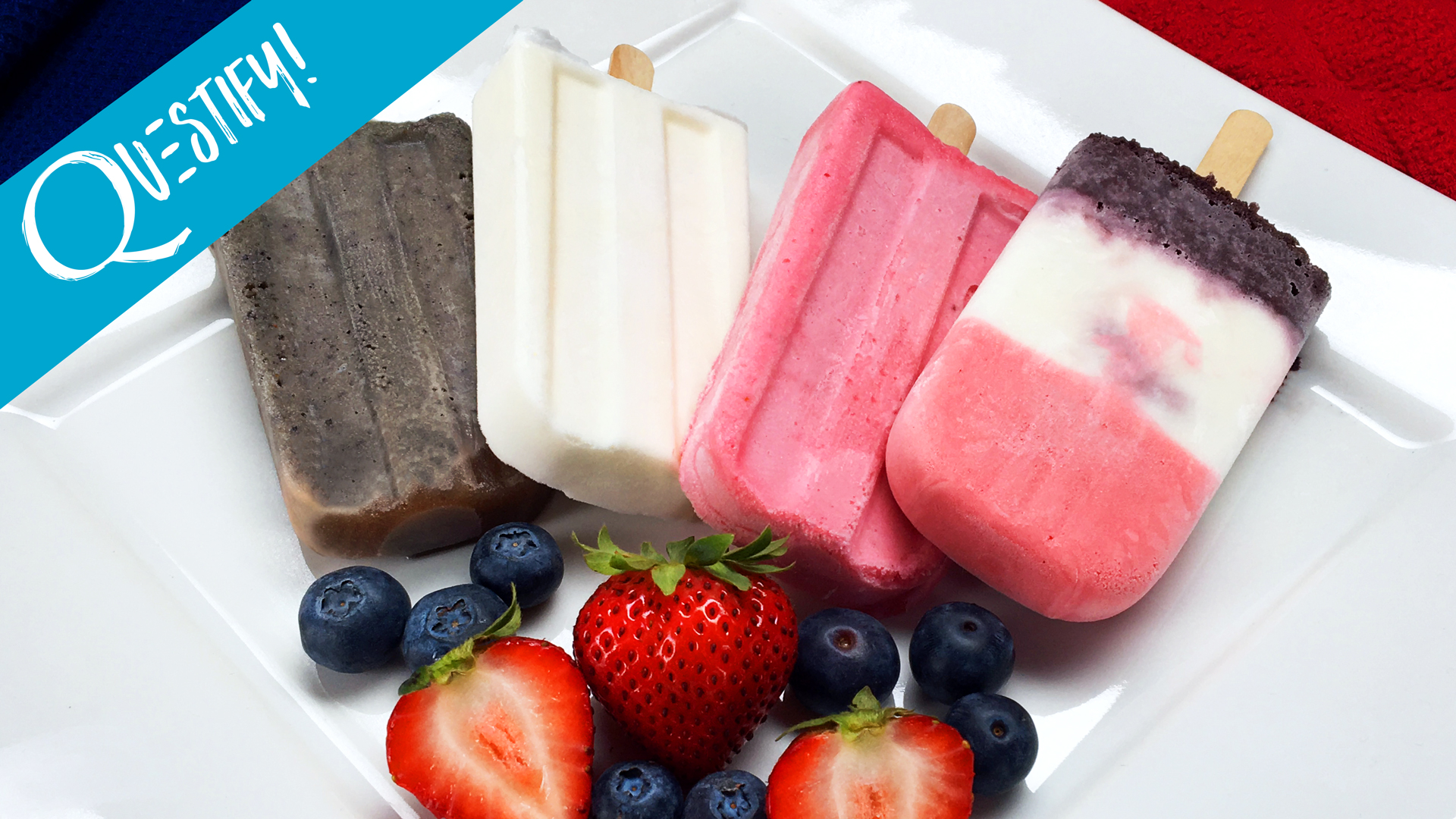 These Red White and Blue Protein Popsicles Provide All the Chill