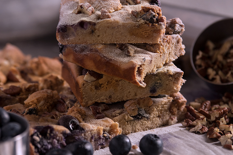 It's Tough, but Don't Forget to Let These Blueberry Blondies Cool Before Your First Bite.