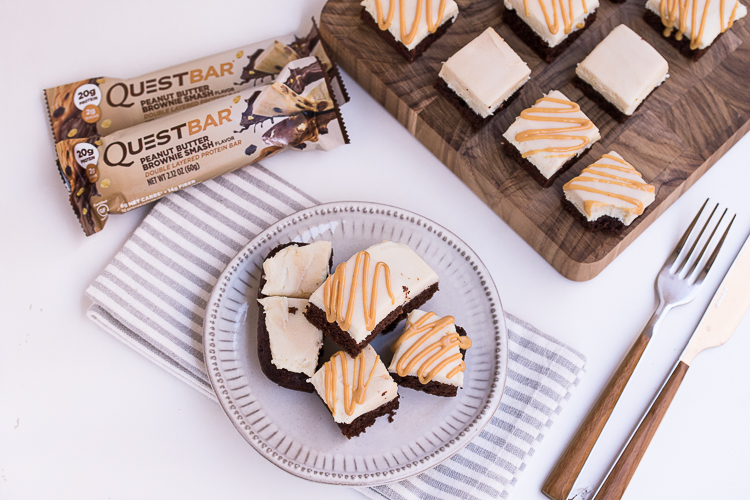 The Best Desserts are Three Desserts in One, Like These Peanut Butter Cheesecake Brownies!
