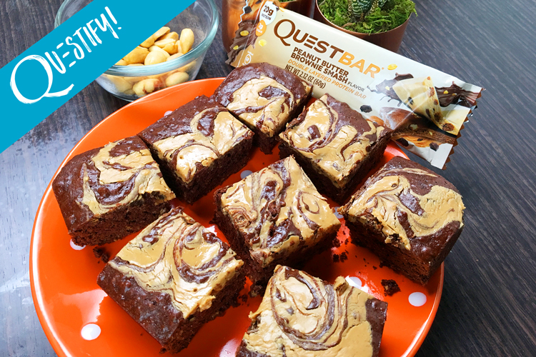 These High Protein Peanut Butter Brownie Swirls Taste As Good As They Sound.
