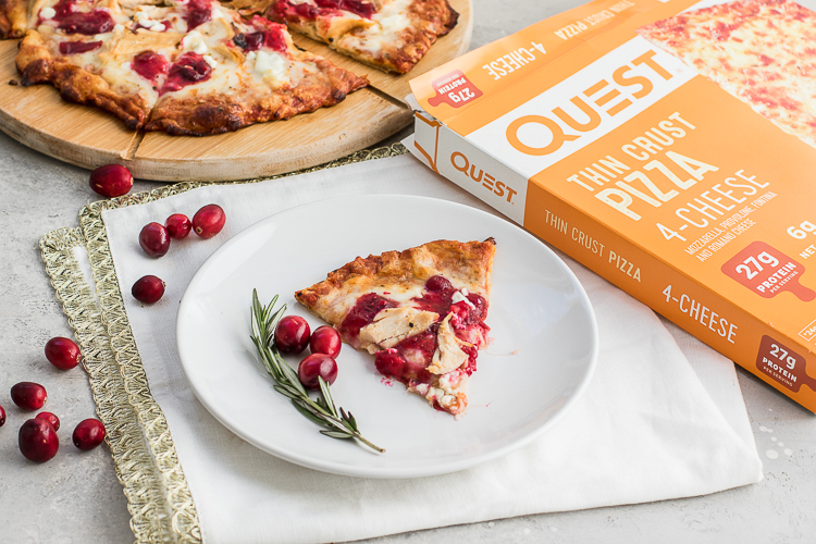 "There's No Wrong Time of Year to enjoy the ""Thanksgiving Leftover"" Quest Thin Crust Pizza"