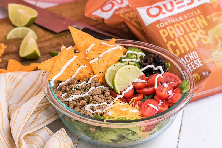 With Quest Tortilla-Style Protein Chips, Your Taco Salad is Ready to Work for You!