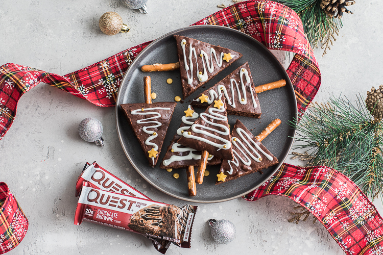 Delight Your Holiday Guests With the Gift of Protein Christmas Tree Brownies